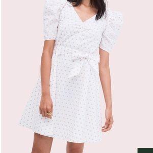 Kate Spade New York white polka dot dress